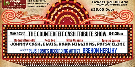 The Counterfeit Cash Tribute Show - March 20th at Bella Sarno tickets