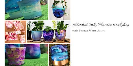 Alcohol Inks- Ceramic Planter workshop tickets