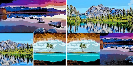 Bob Ross Inspired Scenic Paint and Sip - Tired of the Winter Blues? tickets