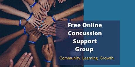Free Online Concussion Support Group and Workshop Series tickets