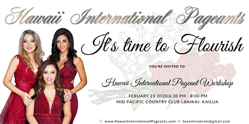 Hawaii International Pageant Workshop