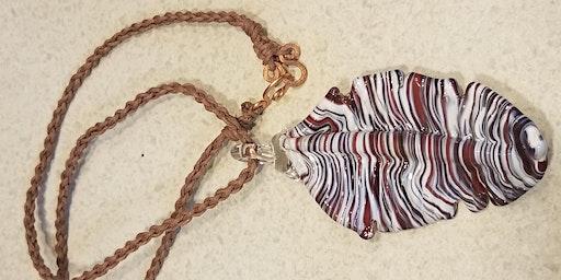 **New**Pendant Necklace Workshop Dual Tech- Glass Pendant and Hemp Chain