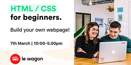 HTML & CSS for beginners  tickets