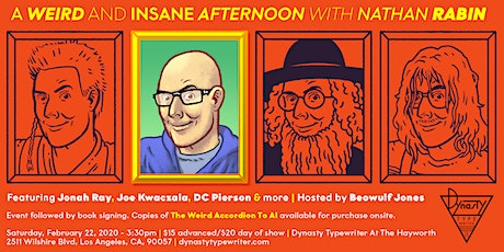 A Weird And Insane Afternoon with Nathan Rabin tickets