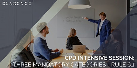 CPD Intensive Session: Three Mandatory Categories - Rule 6.1 tickets