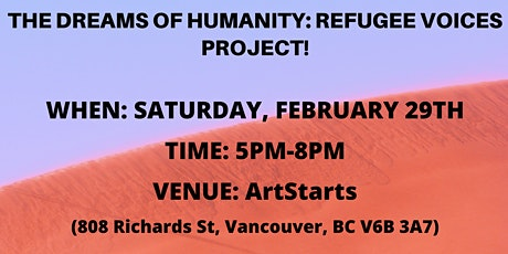 Dreams of Humanity: Refugee Voices Project Launch! tickets