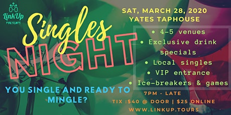 Single and ready to mingle YYJ? | Singles Night YYJ by LinkUp Tours tickets