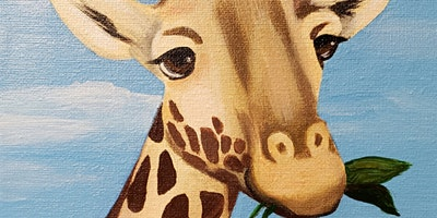 Kids & Grown-ups Giraffe Paint Party at Brush & Cork