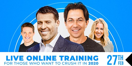 LIVE CAST: TONY ROBBINS & DEAN GRAZIOSI (MEXICO CITY) *THURSDAY 2/27/20*