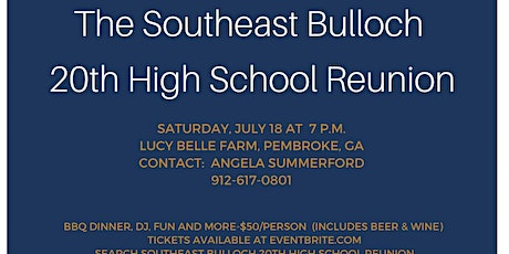 Southeast Bulloch 20th High School Reunion tickets