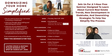 Downsizing Your Home Simplified (Lunch & Learn) tickets
