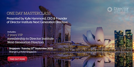 Director Institute Masterclass Singapore 2020 tickets
