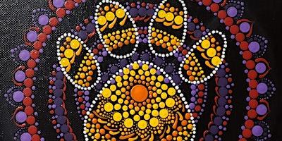 Paw Print Mandala Dot Painting Party at Brush & Cork