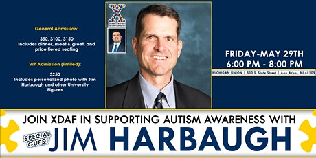 XDAF Supports Autism Awareness with Special Guest Jim Harbaugh tickets