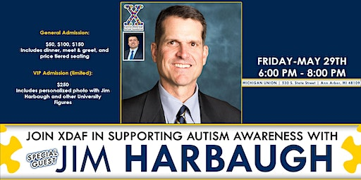 XDAF Supports Autism Awareness with Special Guest Jim Harbaugh