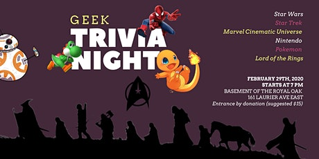 Geek Trivia at the Royal Oak (hosted by Tonal Eclipse) tickets