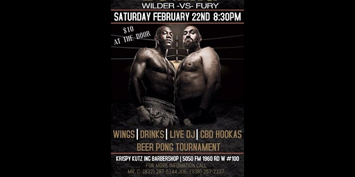 WILDER VS FURY 2 FIGHT PARTY!!!! BEER PONG TOURNAMENT