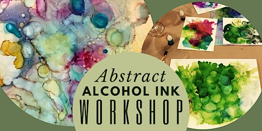 Abstract Alcohol Ink with Gold Leaf Creative Workshop