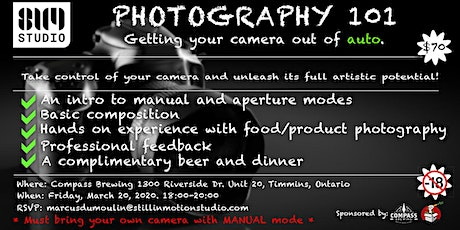 Photography 101 | Getting your camera out of auto. tickets