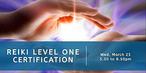 Reiki Level 1 Certification