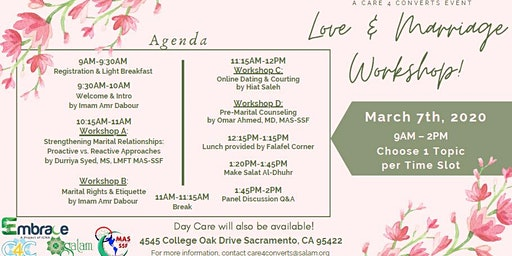 Love and Marriage Workshops
