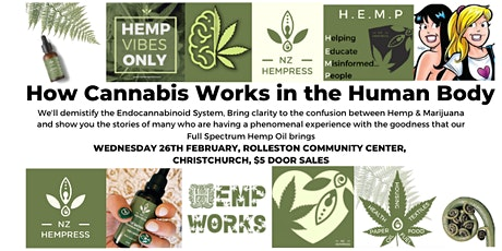 How Cannabis Works In The Human Body Christchurch tickets