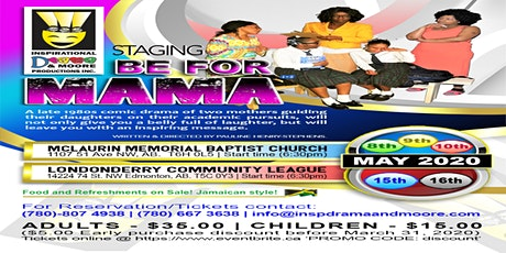 BE FOR MAMA - Staging tickets