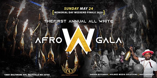All White Afro Gala