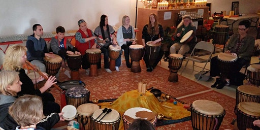 Monthly Healing Drum Circle at Buddhist Temple