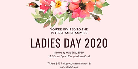 Shammies Ladies Day tickets