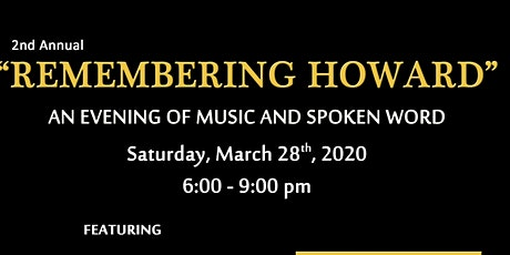 """2nd Annual """"Remembering Howard"""" tickets"""