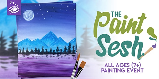 All Ages Paint Night (7+) in Norco, CA: Dreamy Mountains