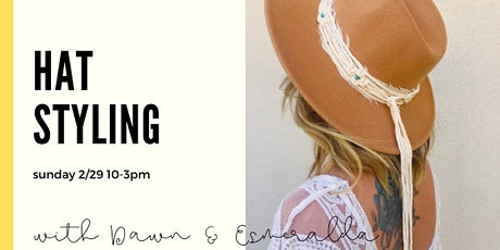 Hat Styling with Macrame Bands tickets