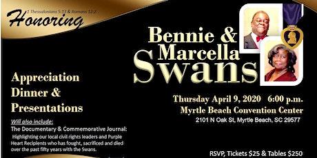 Bennie and Marcella Swans Appreciation Dinner tickets