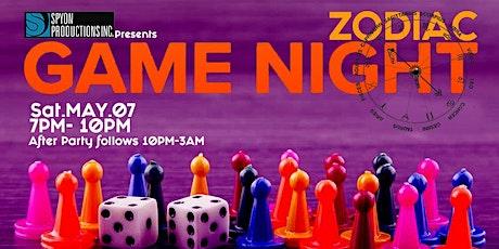 Zodiac Game Night tickets