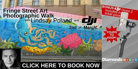 Fringe street art walk with Diamonds cameras and DJI. tickets