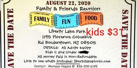 Family and Friends Reunion August 2020 tickets