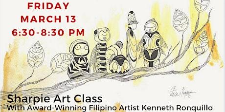 Sharpie Art Class With Award-Winning Filipino Artist Kenneth Ronquillo tickets