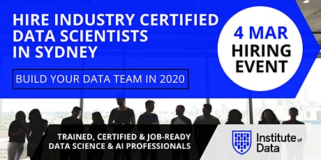 Exclusive Data Science Hiring Event - Sydney - Mar 4, 2020 tickets