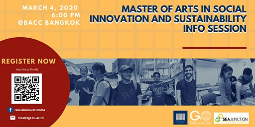 Master of Arts in Social Innovation and Sustainability Info Session