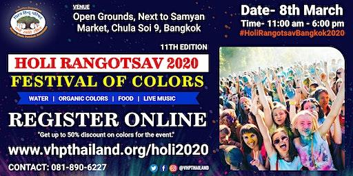Holi Rangotsav Bangkok 2020