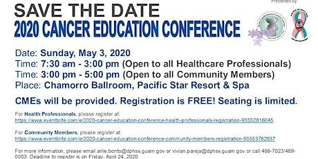 2020 Cancer Education Conference (Health Professionals) tickets