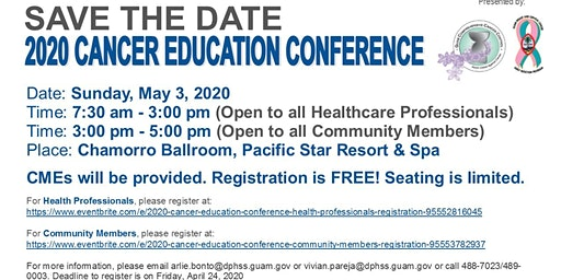 2020 Cancer Education Conference (Health Professionals)