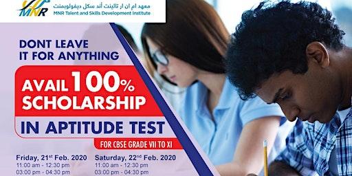Aptitude cum Scholarship Test-100% Scholarship Eligibility Test