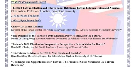 In the Wake of the 2020 Taiwan Election: A New Era for Taiwan, China, and the U.S. tickets