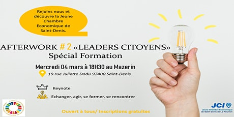 """Afterwork #2 """"Leaders Citoyens"""" Spécial Formation billets"""