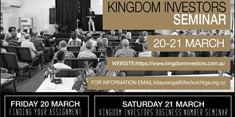 Kingdom Investors Tauranga - Knowing Your Assignment & ASPN tickets