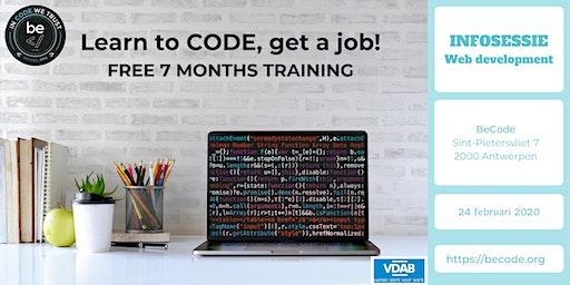 BeCode WEB DEV Infosessie @The Beacon Antwerpen