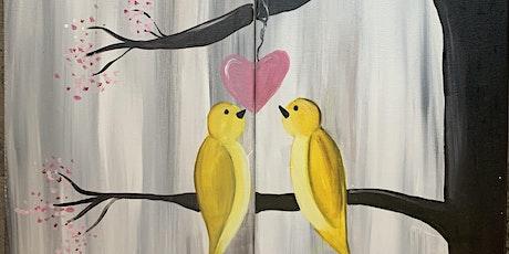 Wine & Design (Date Night Yellow Love Birds) tickets