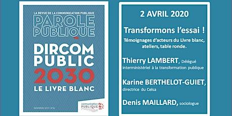 Livre blanc « DIRCOM PUBLIC 2030 » : transformons l'essai ! billets